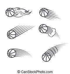 Basketball moving symbol
