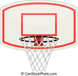 Basketball net and hoop illustration