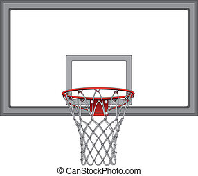 Basketball Net With Backboard - Illustration of a complex...