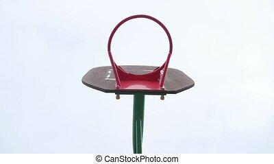 basketball old hoop basketball sport yard - basketball old...