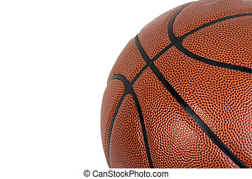 Basketball on a White Background