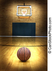 Basketball on Ball Court for Competition and Sports - Ball ...