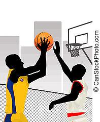 Basketball on city