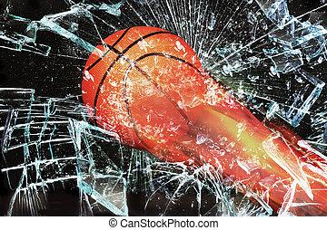 Basketball on Fire.