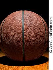 basketball on wood
