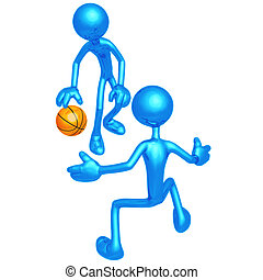 Basketball One On One - 3D Concept And Presentation Figure