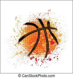 Basketball orange grunge background