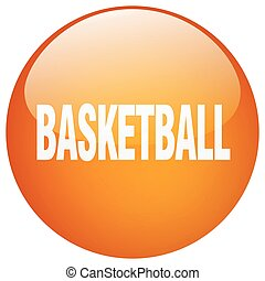 basketball orange round gel isolated push button