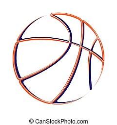 Basketball outline silhouette