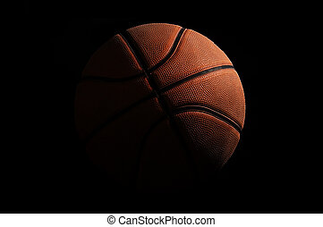 Basketball over black background - High detailed basketball ...