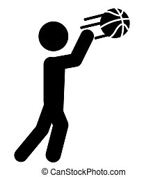 Basketball Pass Icon Vector
