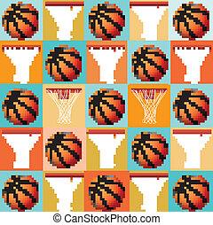 Basketball Pattern Background - A basketball pattern...