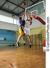 basketball - competition cencept with people who playing...
