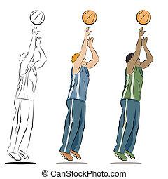 Basketball Player - An image of a basketball player line...