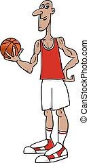 basketball player cartoon illustration