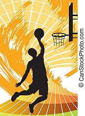 Basketball player - A vector illustration of a basketball...
