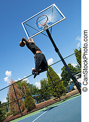 Basketball Player Dunking