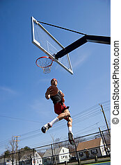 Basketball Player Hang Time
