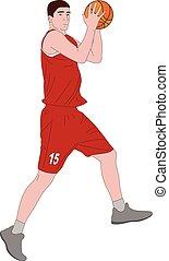 basketball player illustration