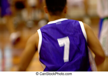Basketball player in motion - A basketball player in motion ...