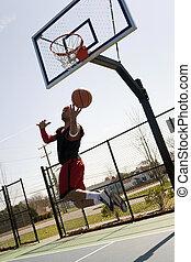 Basketball Player Layup