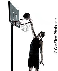 basketball player man isolated silhouette shadow