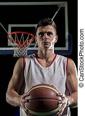 Basketball player portrait