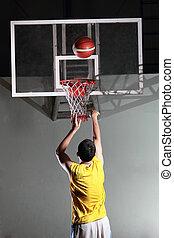 Basketball player prepare