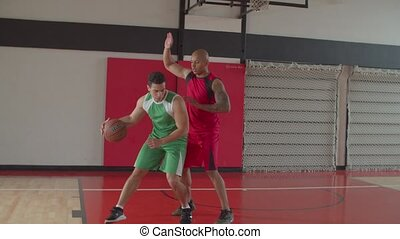 Basketball player scoring two points after layup - Skillful ...