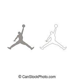 Basketball player  set  icon .