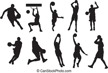 basketball player shadow