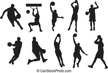 basketball player shadow