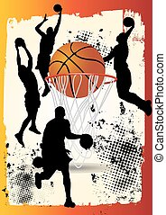 basketball player shooting ball - basketball player is...