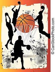 basketball player shooting ball - basketball player is...