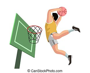 basketball player shooting vector