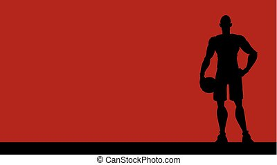 Basketball Player Silhouette Background