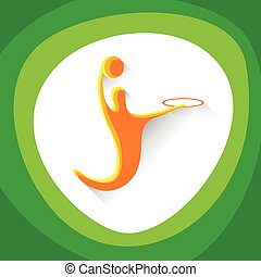 Basketball Player Sportsman Sport Competition Icon