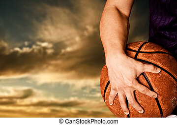 Basketball player - A shot of a basketball player outdoor