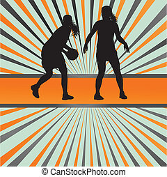 Basketball player vector abstract background concept for...