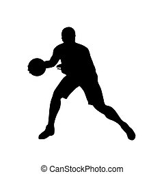Basketball player, vector silhouette