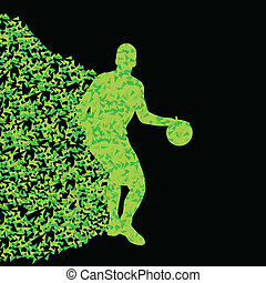 Basketball player winner vector background concept isolated...