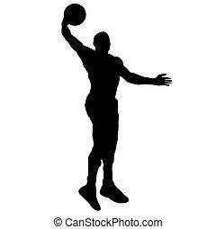 basketball player with ball