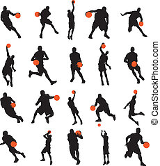 Basketball players 20 poses