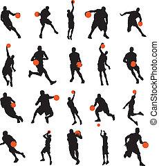 Basketball players 20 poses