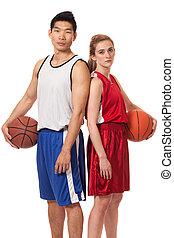 Basketball Players - Male and female basketball players....