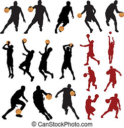 Basketball players. Vector set for you design