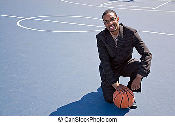 Basketball Professional - A young African American man in a...