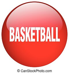 basketball red round gel isolated push button