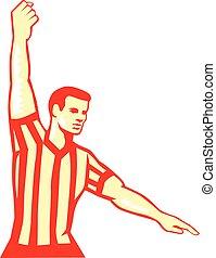 Basketball Referee Stop Clock Foul Retro