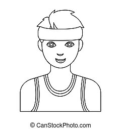 Basketball referee.Basketball single icon in outline style vector symbol stock illustration web.
